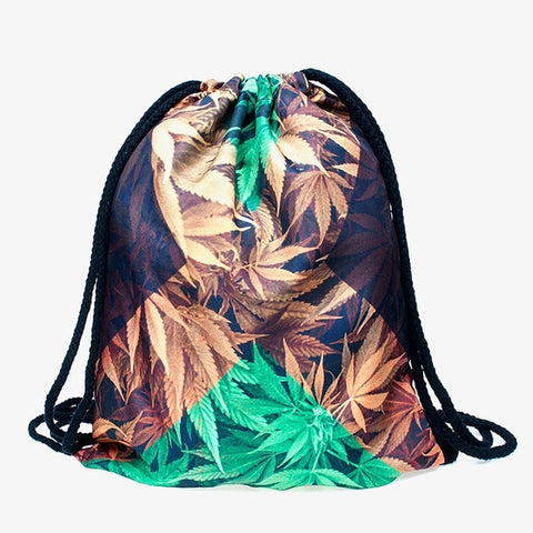 Jamaican Weed Draw String Bag