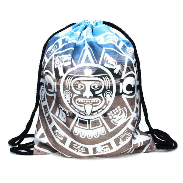 Aztec Draw String Bag