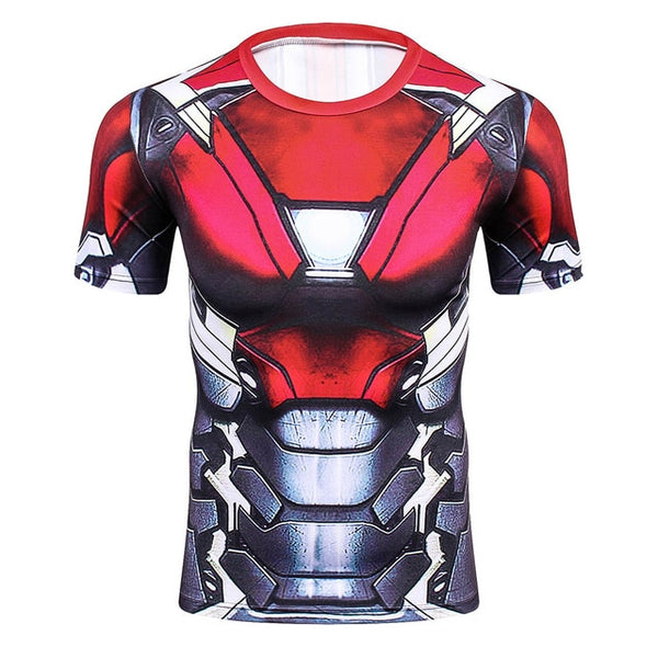MCU Iron Man (Spiderman: Homecoming) Armor Compression Shirt - Short Sleeve