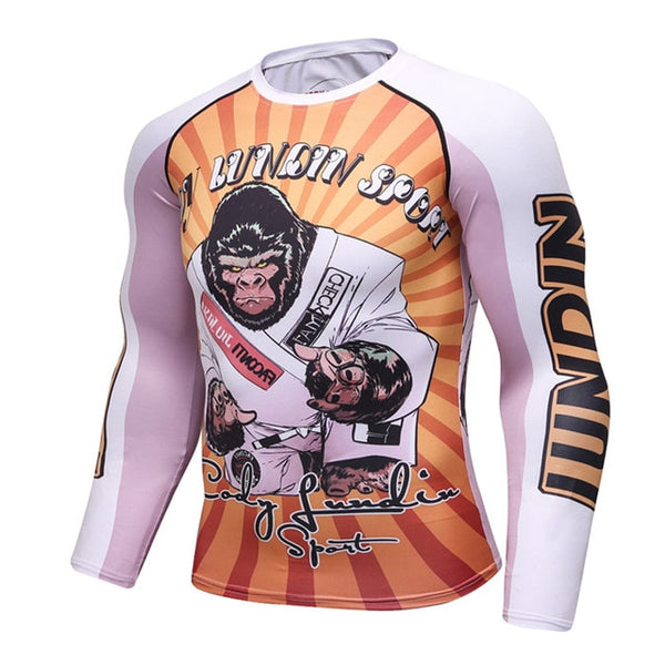 Cody Lundin Sports Black Belt Ape Rash Guard - Long Sleeve