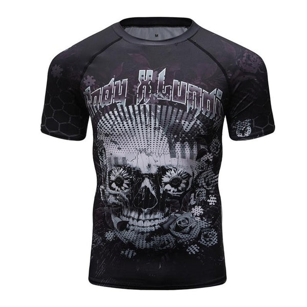 Cody Lundin Day of the Dead Compression Shirt Short Sleeve