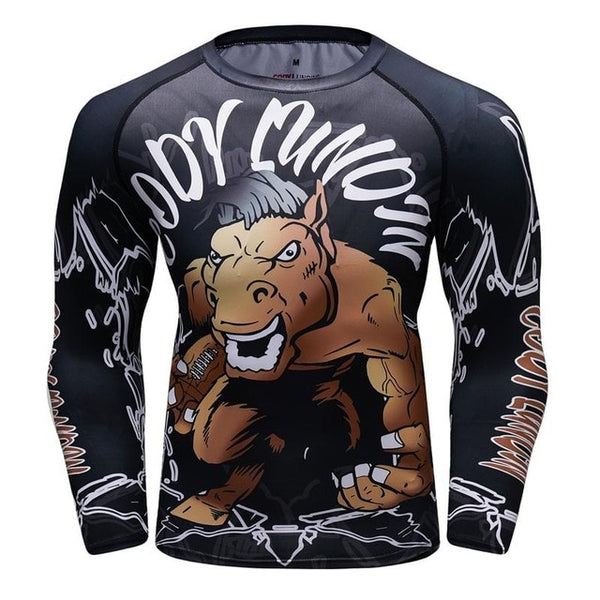 Cody Lundin Muscle Horse Compression Shirt Long Sleeve