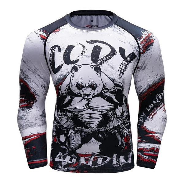 Cody Lundin Woke Panda Compression Shirt Long Sleeve