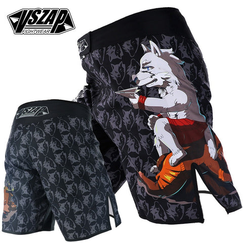 VSZAP Wolf Beats Bear Fight Shorts