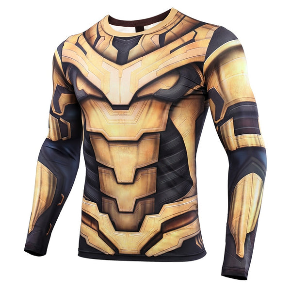 Avengers Endgame Thanos Compression Shirt - Long Sleeve
