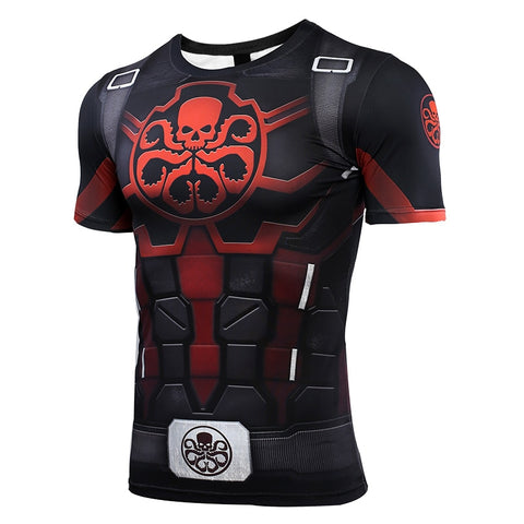 Hydra Captain American Compression Shirt - Short Sleeve