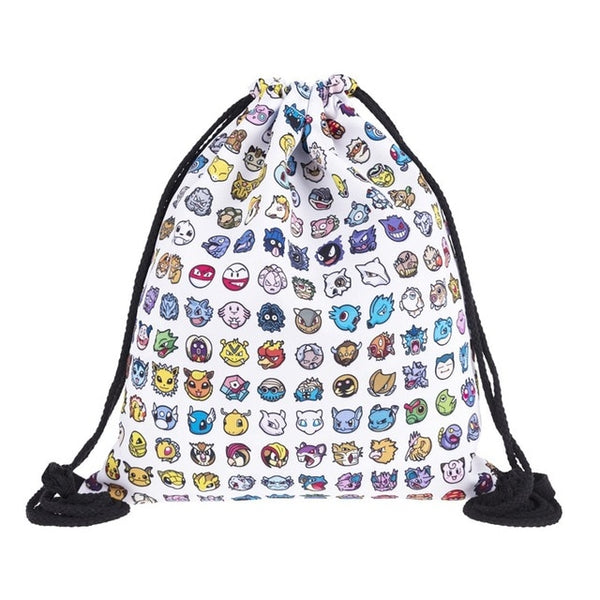 Catch 'em All Pokemon Draw String Bag