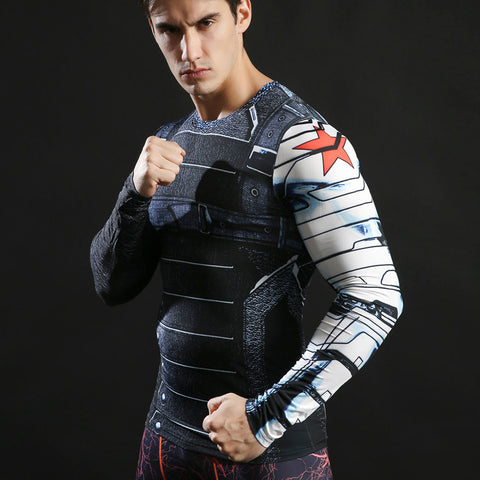 The Winter Soldier Compression Shirt - Long Sleeve