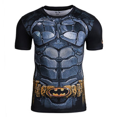 Superhero Short-Sleeve Compression Shirt - Batman