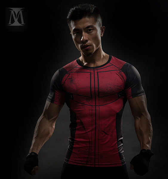 Superhero Short Sleeve Rashguard - Deadpool