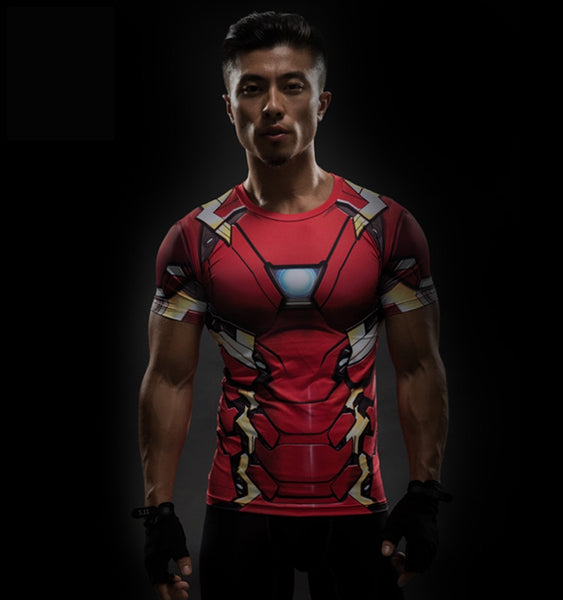 Iron Man Rashguard - Short Sleeve