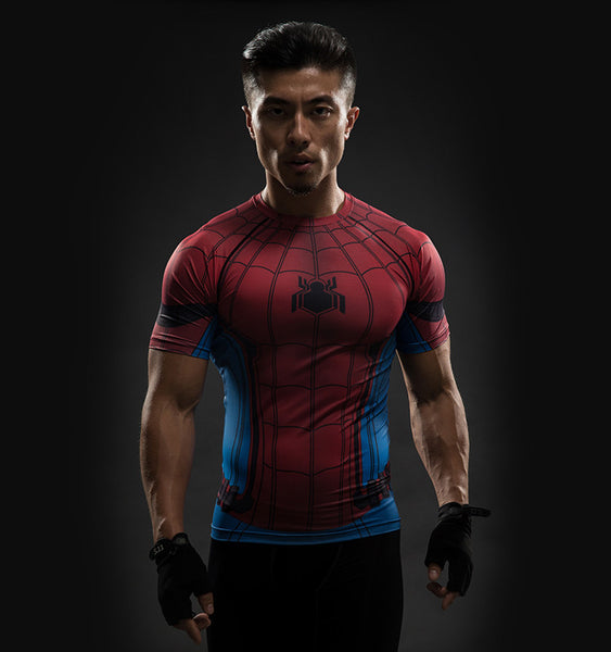 Superhero Short Sleeve Rashguard - Spider-man