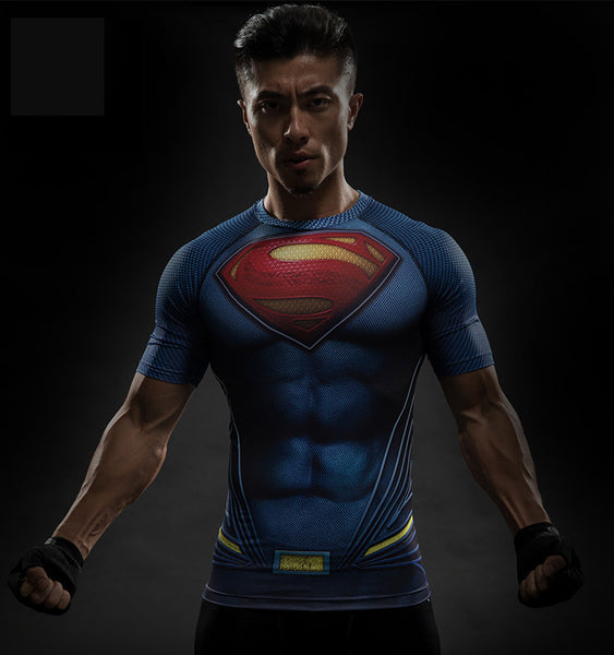 Superhero Short Sleeve Rashguard - Superman