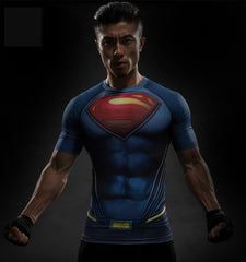 Movie Superman Compression Shirt short sleeve