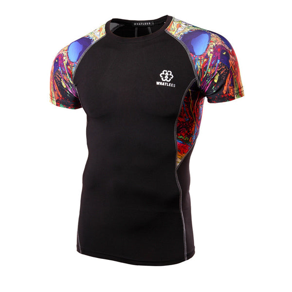 WHATLEES Premium Short-Sleeve Rash Guard - Kaleidoscope