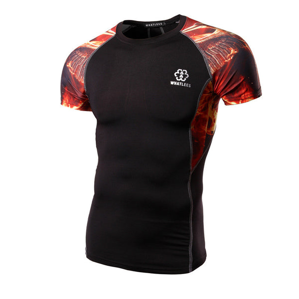 WHATLEES Premium Short-Sleeve Rash Guard - Phoniex