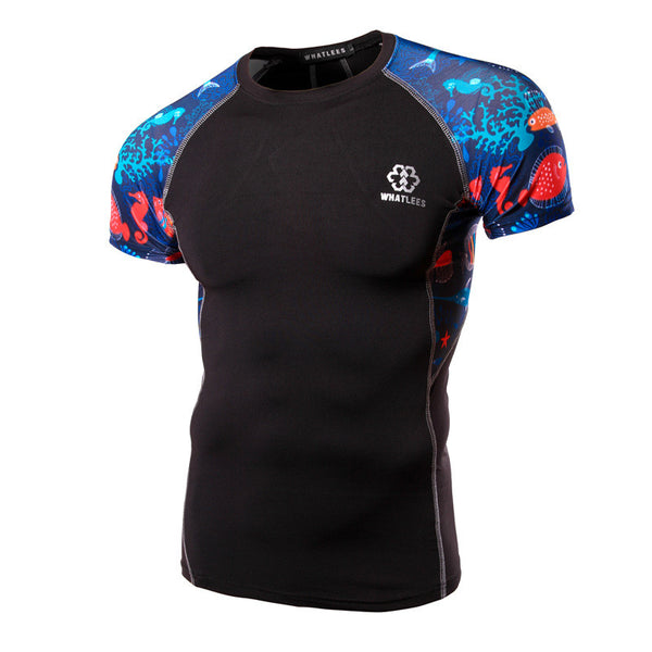 WHATLEES Premium Short-Sleeve Rash Guard - Underwater