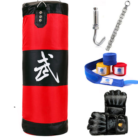 ZooBoo Heavy Punching Bag + MMA Gloves + Hand Wraps