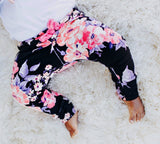 Bright black floral leggings! Please choose available sizing from the drop down menu! Buttery soft!