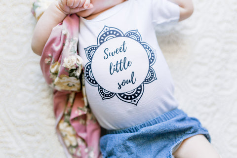 Sweet little soul onesie! Sizing 0-3 through 18-24 months