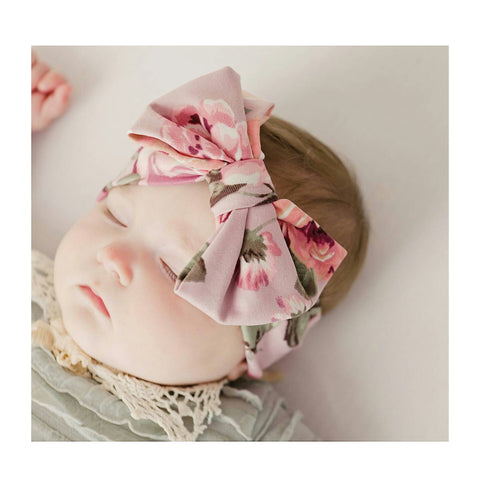 Dusty rose floral bowband