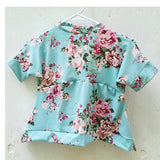Mint and magenta floral slouchy peplum top! Super soft and stretchy!