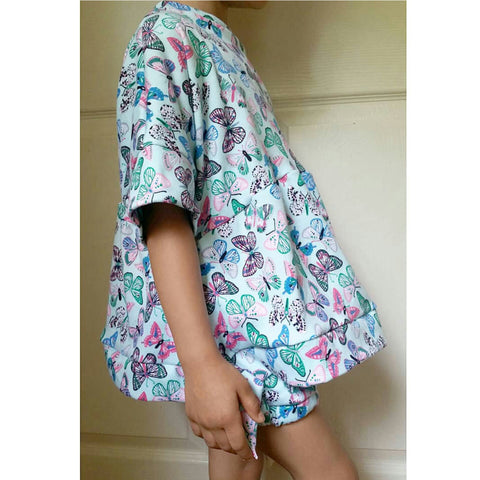 Butterfly slouchy peplum top! LIMITED EDITION! Soft and stretchy!