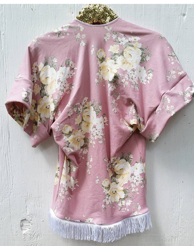 Mauve and pale yellow floral kimono! Buttery soft!