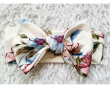 Ivory floral bowband! Buttery soft!