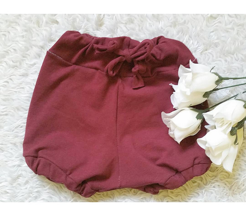 Burgundy soft and stretchy bloomers!