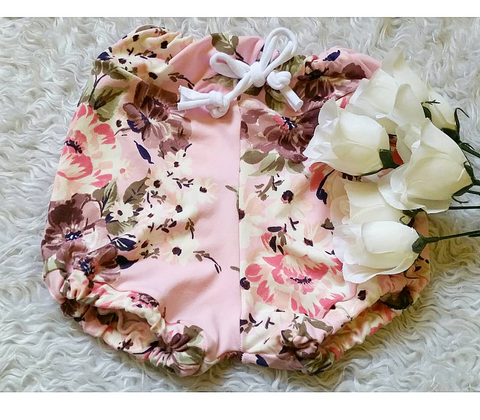 Baby pink floral bloomers! Buttery soft!