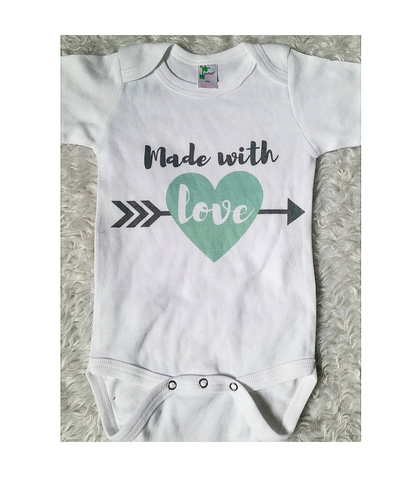 Mint made with love onesie READY TO SHIP!