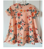 Peach floral short sleeve swing dress! Sizing up to 10Y!