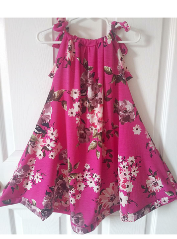 Fuschia floral sun dress! Sizing up to 10Y!