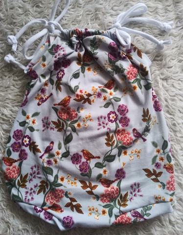 Bird floral sunsuit romper! Buttery soft!