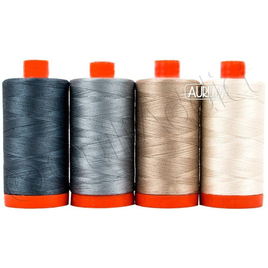 Aurifil Thread Set - Winter Essentials by Edyta Sitar, 4 Large Spools