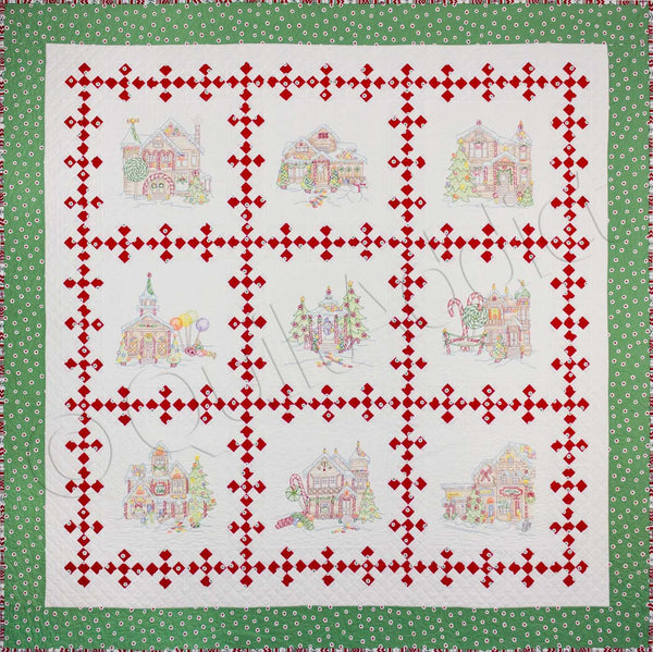 Crabapple Hill Studio - Gingerbread Square Block Of The Month Block Complete Set