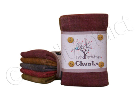 Primitive Wool Chunks, 5pcs.