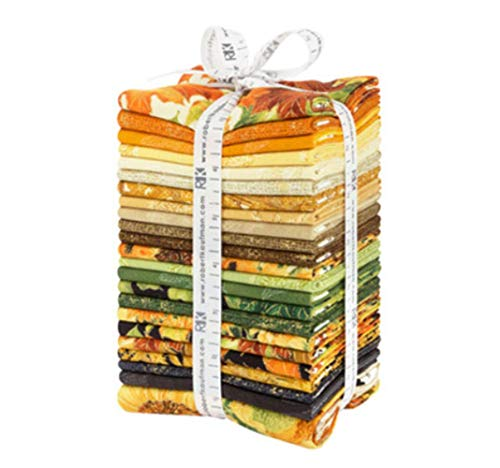Giving Thanks 22 Fat Quarter Bundle Plus Panel by Lynnea Washburn for Robert Kaufman Fabrics FQ-1500-23