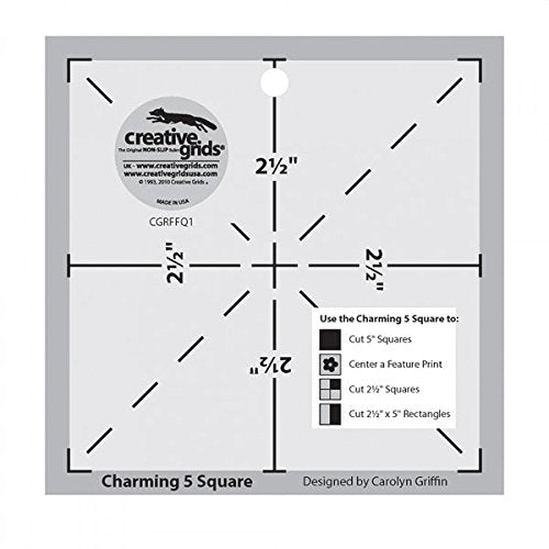 Creative Grids Charming 5 Inch Square Quilt Template: The Charming 5 Square