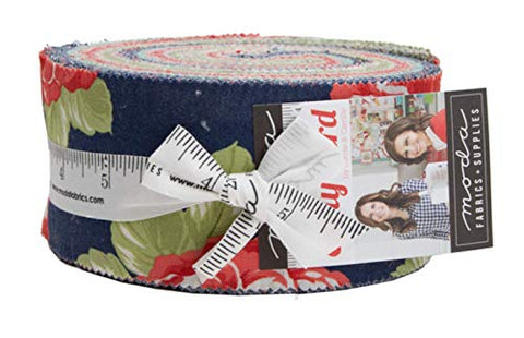 Early Bird Jelly Roll 40 2.5-inch Strips by Bonnie & Camille for Moda Fabrics 55190JR