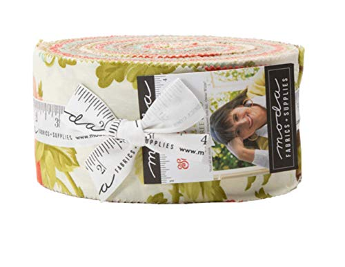 Scarlet & Sage Jelly Roll 40 2.5-inch Strips by Fig Tree & Co. for Moda Fabrics