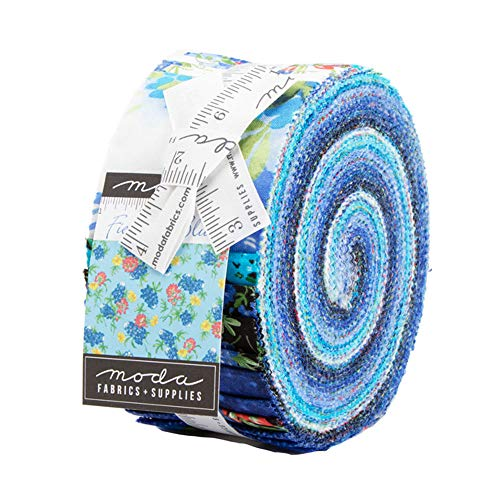 Fields of Blue Moda Jelly Roll, 40 2.5-inch x 44-inch Precut Fabric Strips