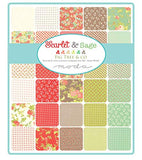 Scarlet and Sage Layer Cake, 42-10 inch Precut Fabric Quilt Squares by Fig Tree & Co. for Moda Fabrics