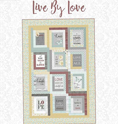 Live by Love Quilt Kit from The Words to Live by Collection by Cherry Guidry for Contempo by Benartex