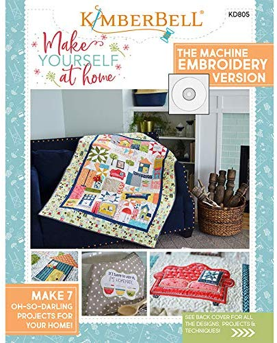 Kimberbell Make Yourself at Home Machine Embroidery CD and Book KD805