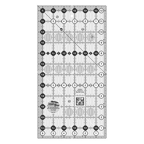 "Creative Grids 6.5"" x 12.5"" Rectangle Quilting Ruler Template CGR612 (Parent)"