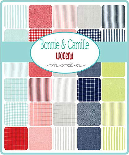 "Bonnie & Camille Wovens Layer Cake, 42-10"" Precut Fabric Quilt Squares"