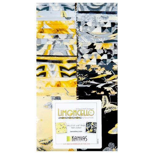 Limoncello Strip-pies by Kanvas Studios; 40 2.5'' Strip - Benartex