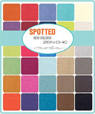 Spotted Jelly Roll 2019 by Zen Chic; 40 2.5 inch strips - Moda